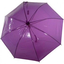 Parapluie transparent violet automatique