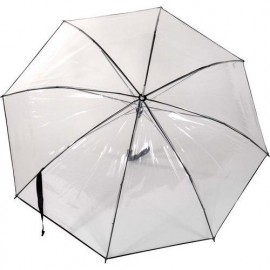 Parapluie Rainy Days transparent automatique  liseret noir