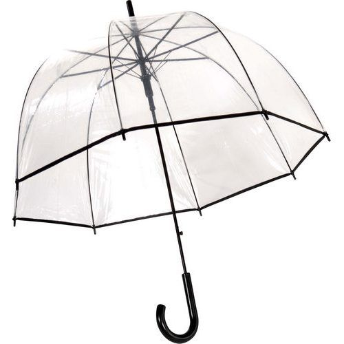 parapluie cloche transparent liseret noir parapluies transparents avec liseret rue du parapluie. Black Bedroom Furniture Sets. Home Design Ideas