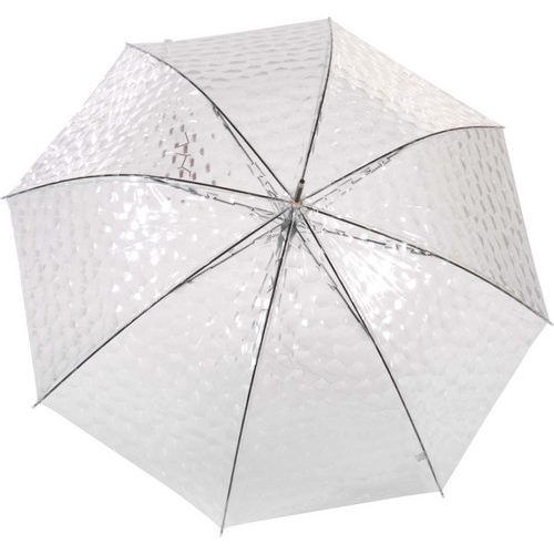 Parapluie transparent original nid d'abeille