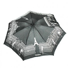 Parapluie pliant noir Paris Chantal Thomass