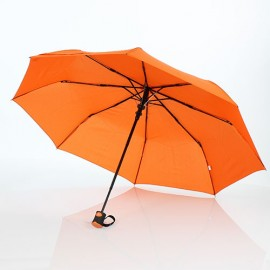 Parapluie pliant automatique 8 baleines orange