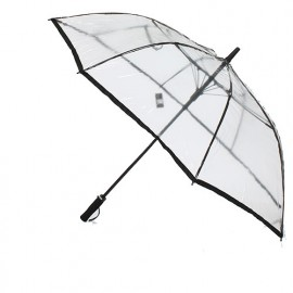 Parapluie golf transparent liseret noir