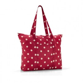 sac shopping rouge à pois mini maxi travelshopper