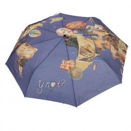 Parapluie pliant vintage new world hotel