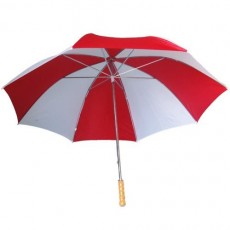 Grand parapluie golf - rouge et blanc