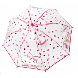 Petit parapluie Hello Kitty transparent enfant rose