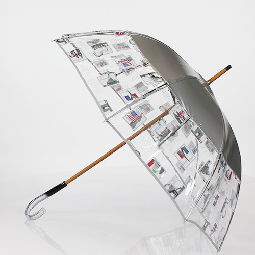 Parapluie semi transparent Paris Londres New York