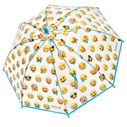 Parapluie enfant transparent emoticones