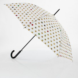 Grand parapluie blanc emoticones