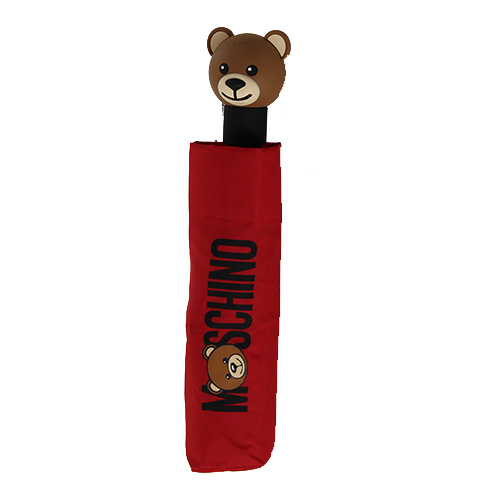 Parapluie rouge pliant Moschino Teddy bear