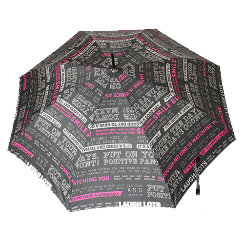 Grand parapluie gris foncé i feel good