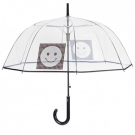 Parapluie cloche transparent smiley