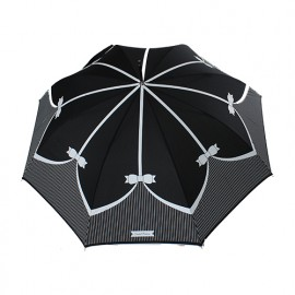 Parapluie long blanc et noir Chantal Thomass
