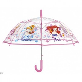 Parapluie transparent cloche princesses Edition Noel 2018