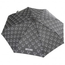 Parapluie noir pliant Moschino Teddy Bear or