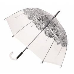 Parapluie cloche transparent tatoo noir