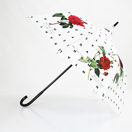 Parapluie forme pagode roses anciennes Chantal Thomass