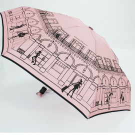 Parapluie pliable rose Paris Chantal Thomass