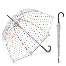 Parapluie transparent cloche pois multicolores Benetton Edition Noel 2019