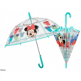 Parapluie cloche transparent Minnie .