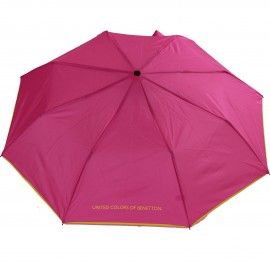 Parapluie pliant rose intense Benetton