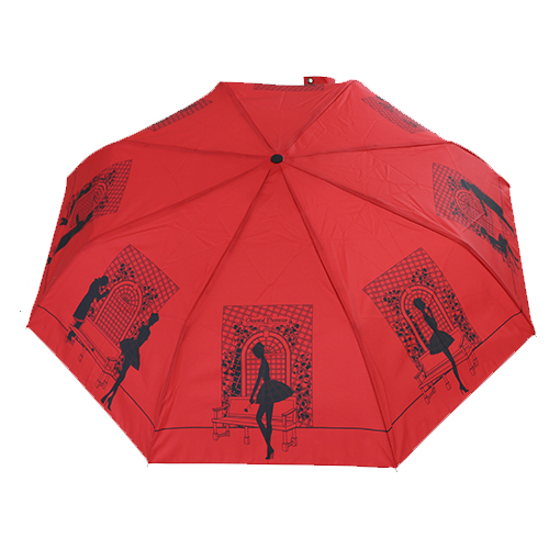 Parapluie pliant rouge romances Chantal Thomass